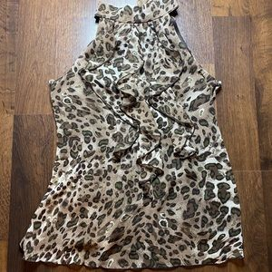 Cheetah print Halter Neck Blouse